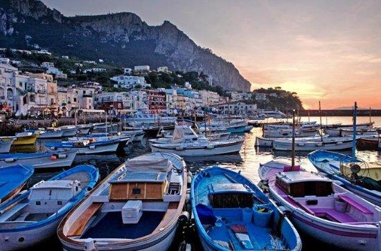 L'île de Capri en bateau