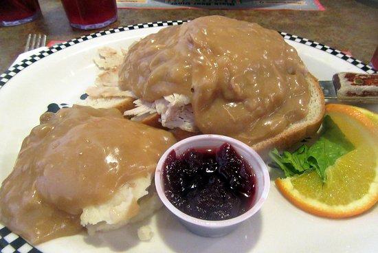 Open Faced Turkey Sandwich, Black Bear Diner, Milpitas, CA