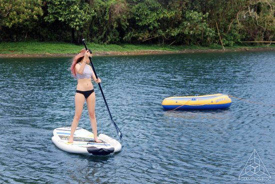 Cavinti, Philippines: Stand Up Paddle (SUP) Boarding!