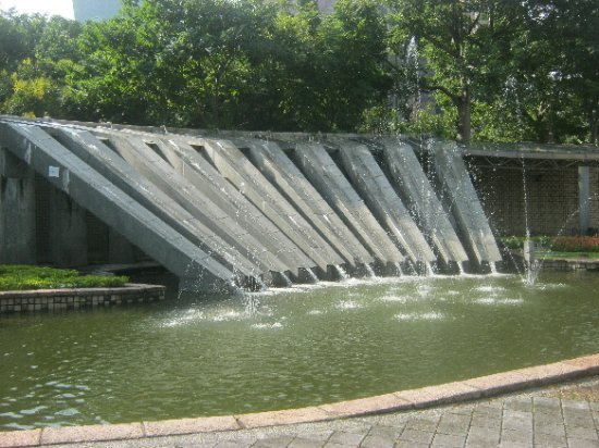 Discovery Center of Taipei: waterfall by the city hall