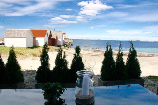 Коммуна Сола, Норвегия: Uteservering i strandkanten