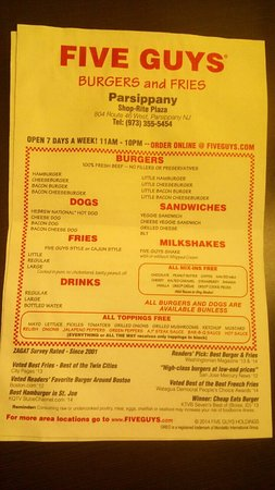 Parsippany, NJ: Love the toppings & the burgers!