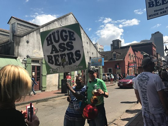 Bourbon Street: Beer as you walk?
