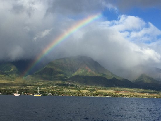 Lanai City, HI: Rainbow over Lahaina Harbor