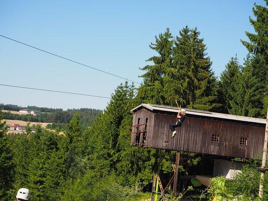 Allerheiligen im Muhlkreis, Østerrike: Das war der längste flying-fox!