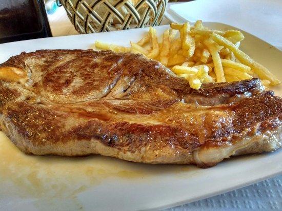 San Martin del Pimpollar, إسبانيا: Chuleta de ternera