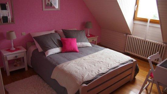 Savigne sur Lathan, Frankrike: chambre rose