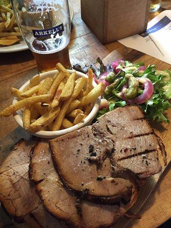 Helen Browning's Royal Oak: open roast organic pork sandwich