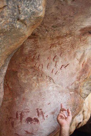Cederberg, South Africa: Rock art on morning walks. L Schoman