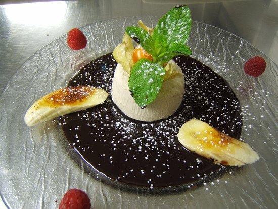 La Taverne de Maitre Kanter: Mousse Banane et coulis de Chocolat