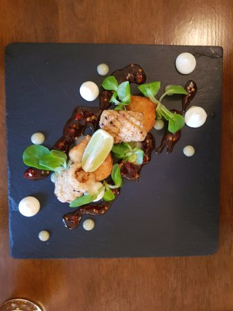 Sawbridgeworth, UK: cheeky squid starter is a bit lighter for those with a smaller appetite