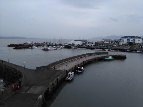 Antrim, UK: Crrickfergus harbour view from Castle walls