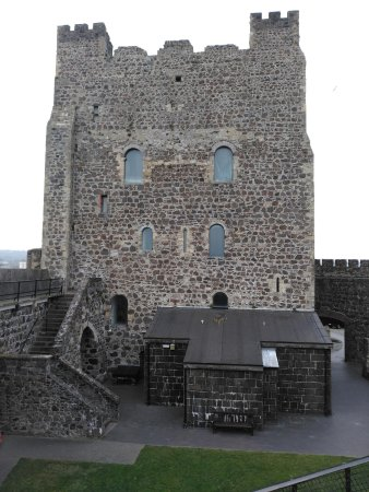 Antrim, UK: The Knight John De Courcy built this keep at Carrickfergus Castle in 1178