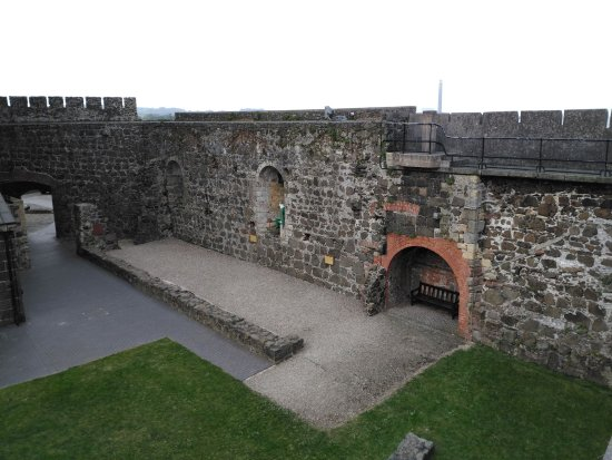 Antrim, UK: The remains of the great hall Carrickfergus castle