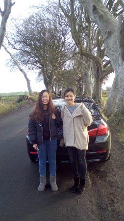 Antrim, UK: Happy tourists