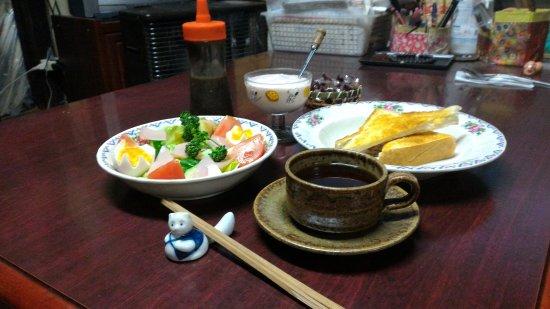 Ube, Japan: ディナー。時間がなかった。ピザトーストOK!! 。