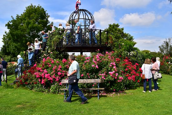 Attleborough, UK: The stunning viewing turret offers visitors the opportunity to look out over the gardens