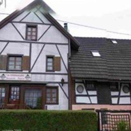 Blotzheim, Frankrike: restaurant vue d'exterieur