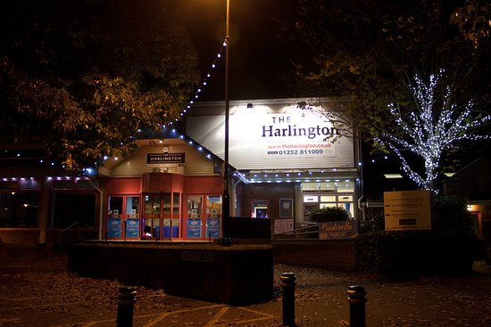 Fleet, UK: The outside of The Harlington