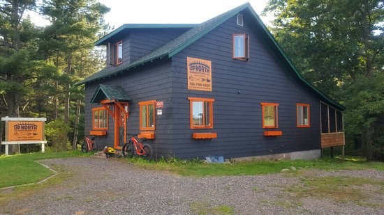 Cable, WI : Stop by our shop right on Hwy 63 to book a tour. Changing rooms and a back screened in porch to