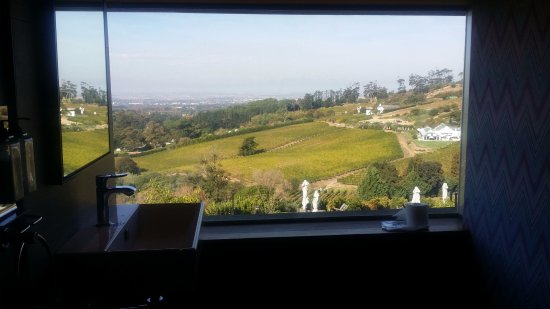 Constantia, Sydafrika: View from the toilets! Amazing!