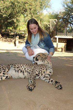 Oudtshoorn, Güney Afrika: Me with this big fluffy guy