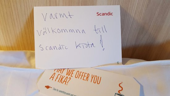 Kista, Suecia: Welcomcard. Nice!