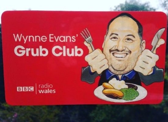 Cowbridge, UK: Delighted to be awarded membership of the Radio Wales Grub Club!