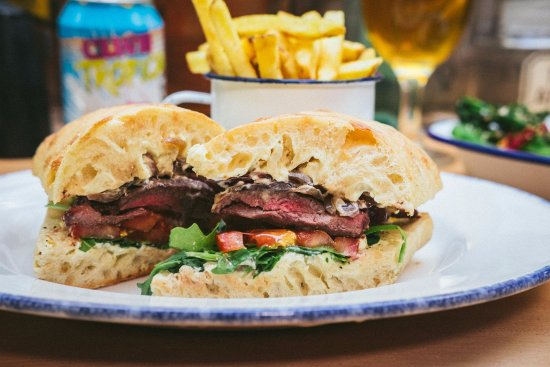 Alderley Edge, UK: Flat Iron Steak Sandwich