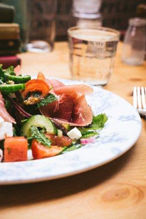 Alderley Edge, UK: Prosciutto, Watermelon and Feta Salad