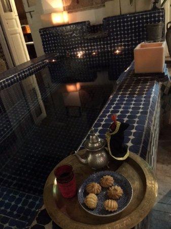 Riad La Terrasse des Oliviers: thé à la menthe .....