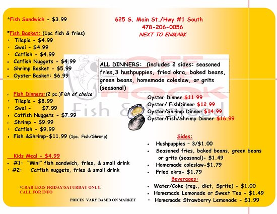 Swainsboro, Gürcistan: CHECK OUT OUR MENU!!!