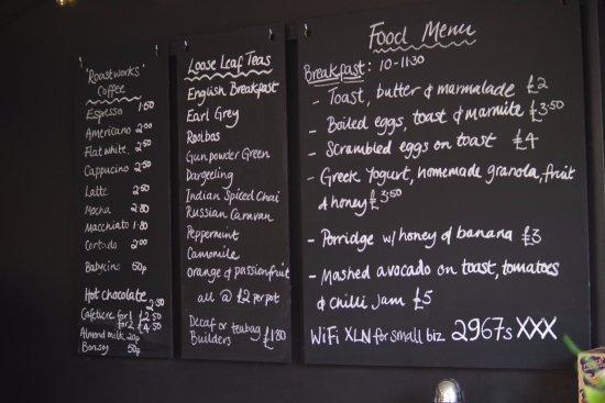 Kingsbridge, UK: new menu everyday