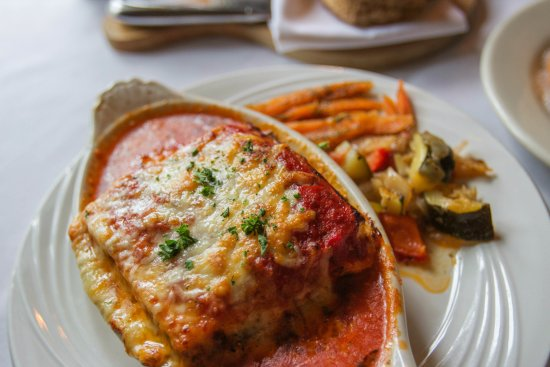 Manchester, VT: Here's our Vegetarian Lasagna. Hope you're hungry!