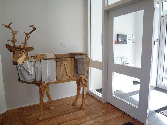 Egilsstadir, Iceland: This lovely reindeer greets you.