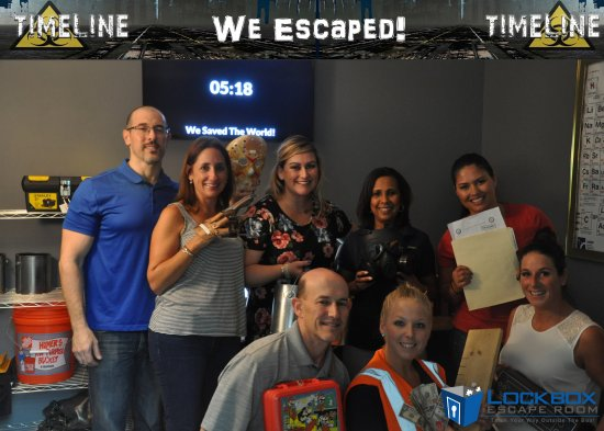 Davie, FL: we completed the Timeline room with 5 mins to spare!