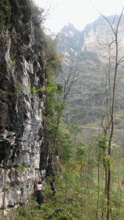 Mashan County, China: een prachtige wandeling in de omgeving van Mashan, Guangxi.