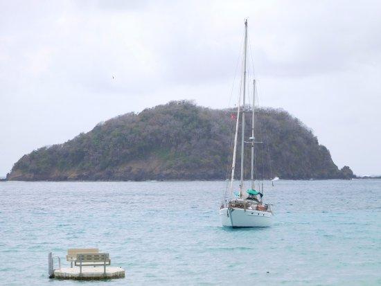 Speyside, Tobago: View from restaurant deck