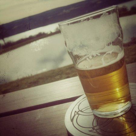 Burdett, NY: Overlooking Seneca Lake at Grist Iron Brewing.