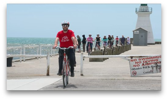 Port Dover, Canada: Biking on the pier