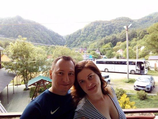 Krasnodar Krai, Rusia: Вид на горы с номера гостиницы Большая Медведица