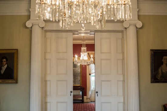 Ten Broeck Mansion Double doors from the rear parlor to the front parlor & Double doors from the rear parlor to the front parlor - Picture of ...