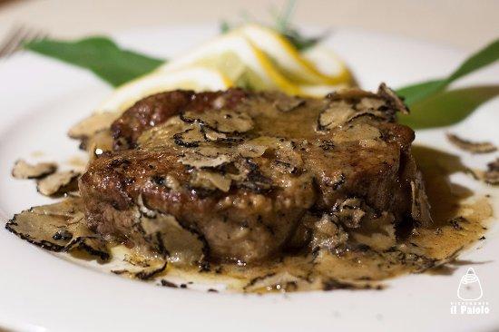 Ristorante il Paiolo : filetto di chianina al tartufo nero pregiato