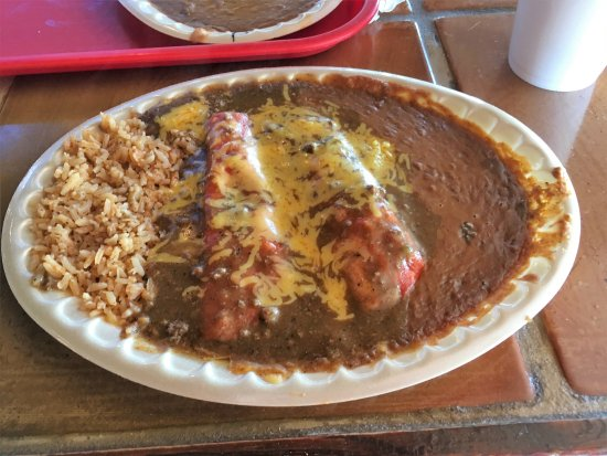 Balderas Tamale Factory enchilada plate on paper plate & enchilada plate on paper plate - Picture of Balderas Tamale Factory ...