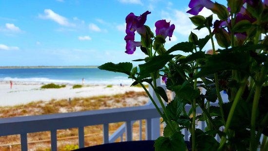 Beautiful afternoon on the porch of the Port Boca Grande Lighthouse & Museum.