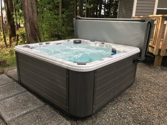 The Francis: Outdoor Hot Tub Spa - Beautiful, modern multi-jetted massage spa with erogonomic seating