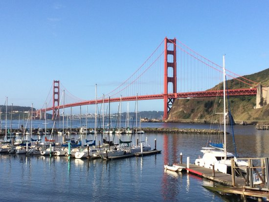 Ask for our overnight at the foot of the Golden Gate Bridge!