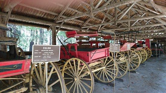 Wawona, CA: 馬車の展示