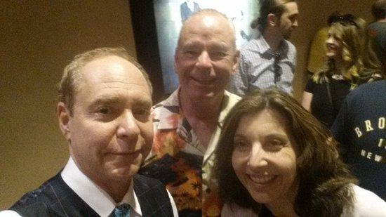 Penn & Teller: My wife and I with Teller.