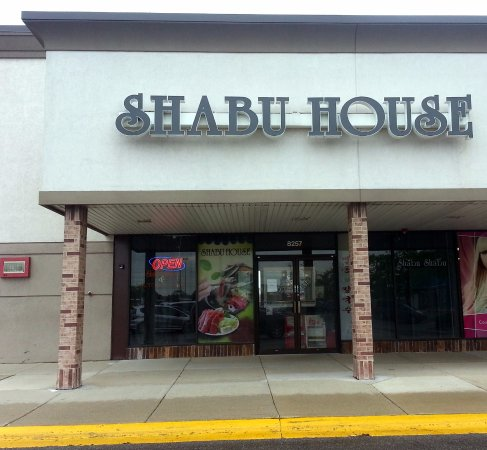Niles, IL: front of & entrance to Shabu House